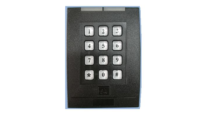 非接触式cpu卡键盘门禁读卡器